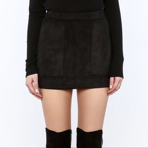 Honey Punch Suede Skirt